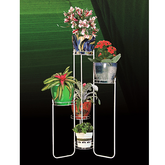 Напольная подставка для цветов из труб