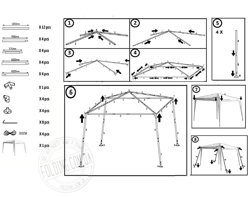 инструкция по сборке садового павильона img-1